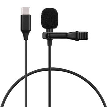 Audio klopový USB-C mikrofón so štipcom 1,5 m
